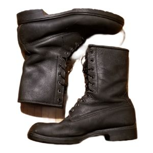 Mens BLACK COMBAT BOOTS (Size 8.5)